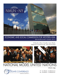 NMUN NY • Economic and Social commiSSion for WEStErn aSia
