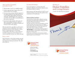 Donor Families and Living Donors
