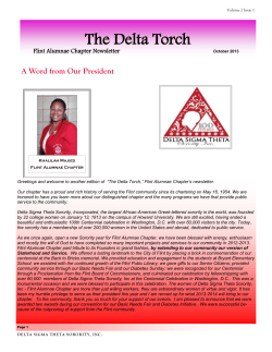 The Delta Torch  A Word from Our President Flint Alumnae Chapter Newsletter