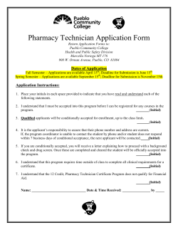 Pharmacy Technician Application Form