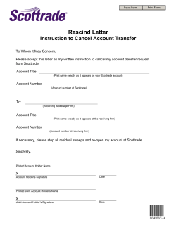 Rescind Letter Instruction to Cancel Account Transfer