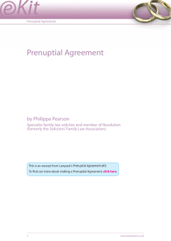 Prenuptial Agreement by Philippa Pearson