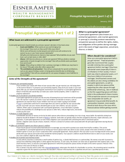 Prenuptial Agreements Part 1 of 2  CFP© CLU,