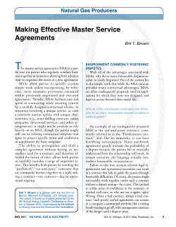 T Making Effective Master Service agreements Natural Gas Producers