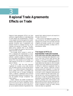 3 Regional Trade Agreements: Effects on Trade