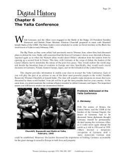 W  Chapter 6 The Yalta Conference