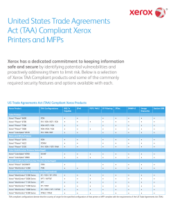 US Trade Agreements Act (TAA) Compliant Xerox Products