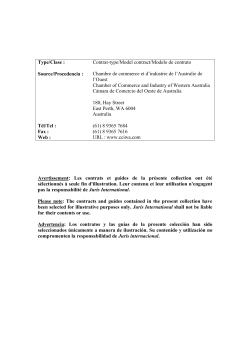 Type/Clase : Source/Procedencia : Contrat-type/Model contract/Modelo de contrato