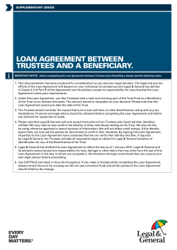 Loan agreement between trustees and a beneficiary. suppLementary deeds