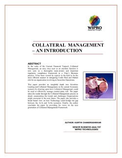 COLLATERAL MANAGEMENT – AN INTRODUCTION  ABSTRACT