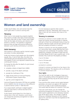 FACT SHEET Women and land ownership