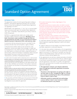 Standard Option Agreement INTRODUCTION: