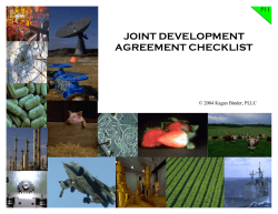 JOINT DEVELOPMENT AGREEMENT CHECKLIST #11