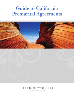 Guide to California Premarital Agreements