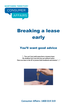 Breaking a lease early You'll want good advice