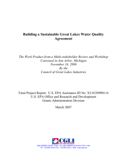 Building a Sustainable Great Lakes Water Quality Agreement