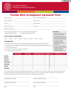 Flexible Work Arrangement Agreement Form Print Form