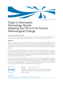Trade in Information Technology Goods: Adapting the ITA to 21st Century Technological Change