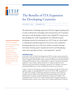 The Benefits of ITA Expansion for Developing Countries
