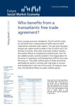 Who benefits from a transatlantic free trade agreement? ef