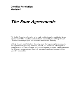 The Four Agreements  Conflict Resolution Module 1
