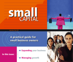 A practical guide for small business owners In this issue: Expanding
