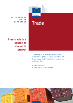 Trade Free trade is a source of economic
