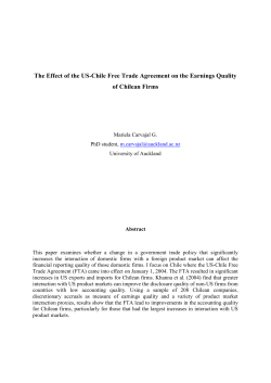 The Effect of the US-Chile Free Trade Agreement on the... of Chilean Firms
