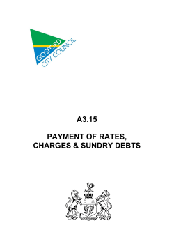 A3.15  PAYMENT OF RATES, CHARGES & SUNDRY DEBTS