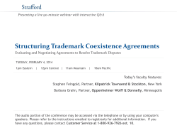 Structuring Trademark Coexistence Agreements