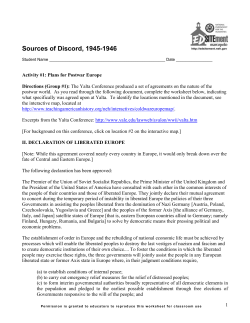 Sources of Discord, 1945-1946