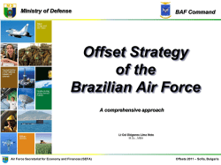 Offset Strategy of the Brazilian Air Force Ministry of Defense