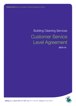 Customer Service Level Agreement Building Cleaning Services 2013-14
