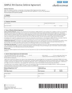 SIMPLE IRA Elective Deferral Agreement CLEAR PRINT