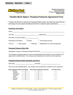 Flexible Work Option: Flexplace/Telework Agreement Form