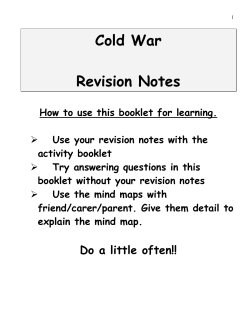 Cold War  Revision Notes