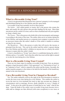 what is a revocable living trust?