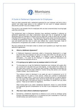 A Guide to Settlement Agreements for Employees