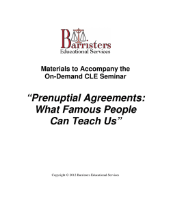 """Prenuptial Agreements: What Famous People Can Teach Us"""