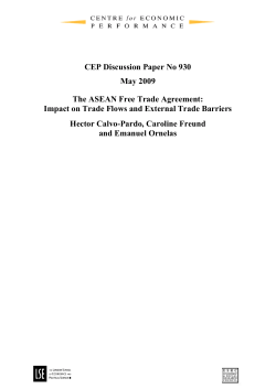CEP Discussion Paper No 930 May 2009 The ASEAN Free Trade Agreement: