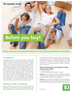Before you buy! Pre-approval