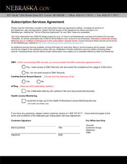 Subscription Services Agreement