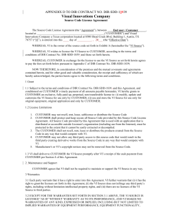 Visual Innovations Company APPENDIX D TO DIR CONTRACT NO. DIR-SDD-1 39