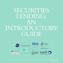 SECURITIES LENDING: AN INTRODUCTORY