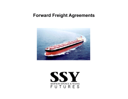 Forward Freight Agreements
