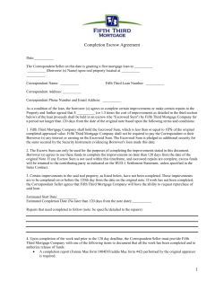 Completion Escrow Agreement