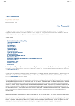 PayPal User Agreement View all legal agreements Print Download PDF