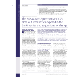 The ISDA Master Agreement and CSA: close-out weaknesses exposed in the