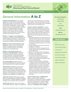 A to Z General Information Structural Pest Control Board