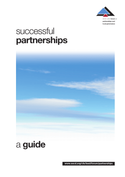 successful guide partnerships www.oecd.org/cfe/leed/forum/partnerships